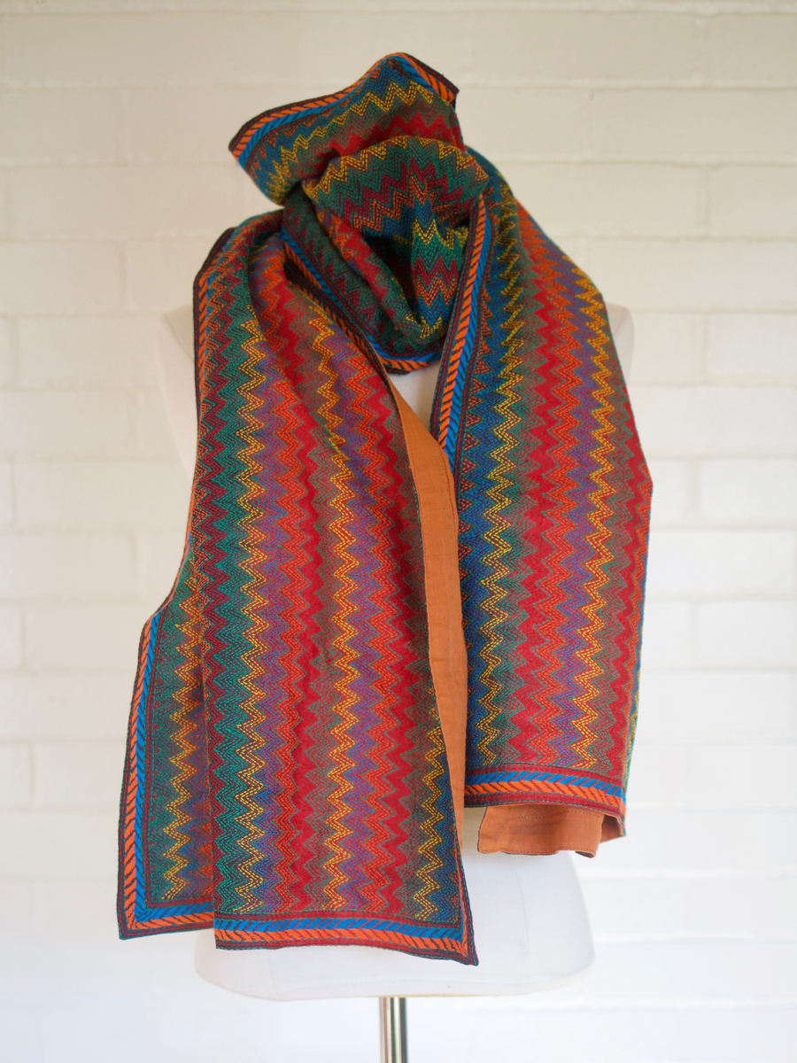 Colorful She Kantha Scarf